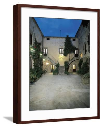 Plants in the Courtyard of a Castle, Sanluri, Sardinia, Italy--Framed Art Print