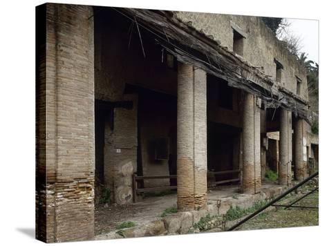 Italy, Herculaneum, House Next to the Forum, Ruins--Stretched Canvas Print