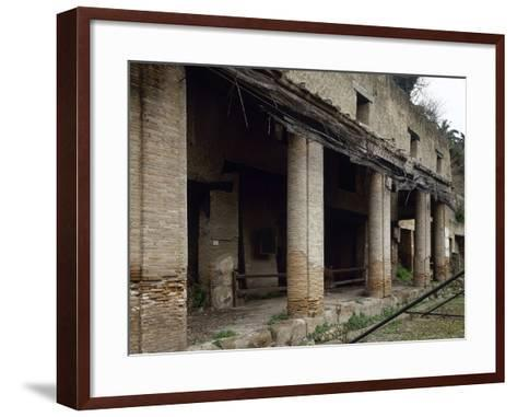 Italy, Herculaneum, House Next to the Forum, Ruins--Framed Art Print