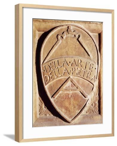 Coat of Arms of Stone Art, Italy, 13th Century--Framed Art Print