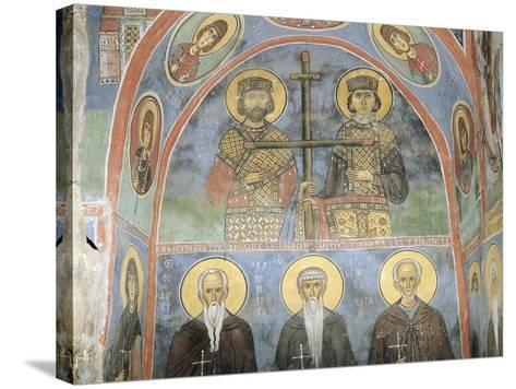 Fresco in a Church, Panagia Ties Asinou Church, Nikitart, Cyprus--Stretched Canvas Print