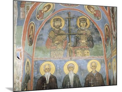 Fresco in a Church, Panagia Ties Asinou Church, Nikitart, Cyprus--Mounted Giclee Print