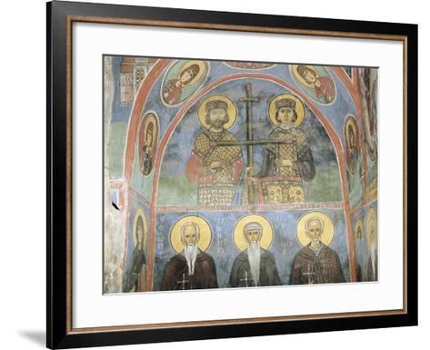 Fresco in a Church, Panagia Ties Asinou Church, Nikitart, Cyprus--Framed Art Print