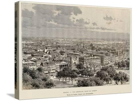 View of Boston, 1892, United States of America, 19th Century--Stretched Canvas Print