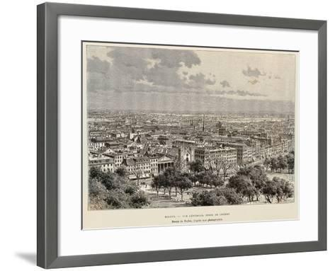 View of Boston, 1892, United States of America, 19th Century--Framed Art Print