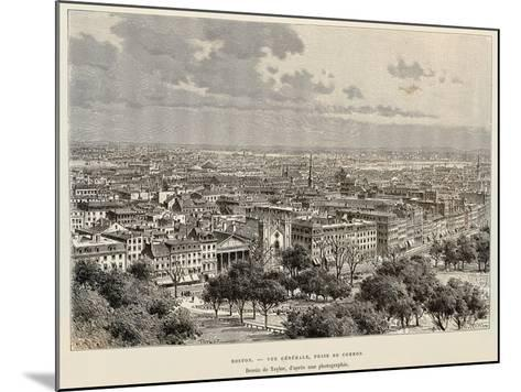 View of Boston, 1892, United States of America, 19th Century--Mounted Giclee Print