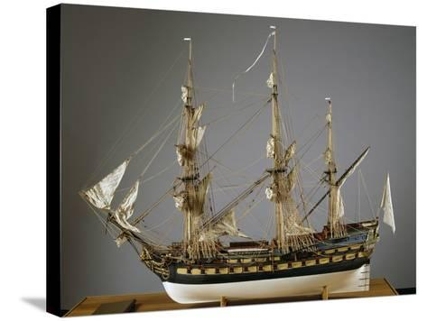Model of Protecteur Ship, Launched in 1760, France, 18th Century--Stretched Canvas Print