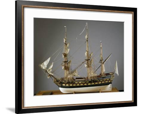Model of Protecteur Ship, Launched in 1760, France, 18th Century--Framed Art Print