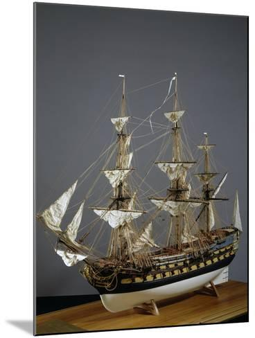 Model of Protecteur Ship, Launched in 1760, France, 18th Century--Mounted Giclee Print