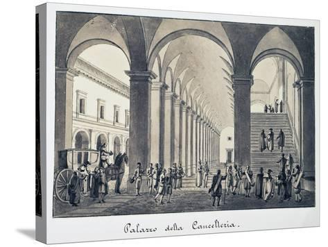 Former Palace of Chancellery in Rome, Italy, 18th Century--Stretched Canvas Print