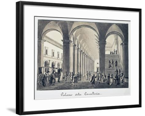 Former Palace of Chancellery in Rome, Italy, 18th Century--Framed Art Print