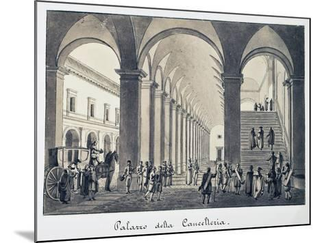 Former Palace of Chancellery in Rome, Italy, 18th Century--Mounted Giclee Print