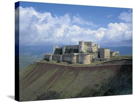 Fortress on a Hilltop, Krak Des Chevaliers, Syria--Stretched Canvas Print