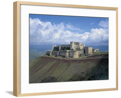 Fortress on a Hilltop, Krak Des Chevaliers, Syria--Framed Art Print