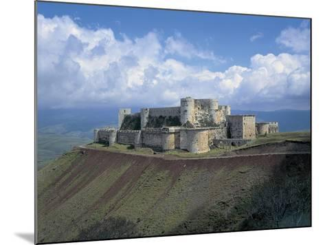 Fortress on a Hilltop, Krak Des Chevaliers, Syria--Mounted Giclee Print