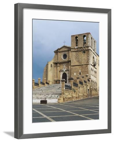 Facade of a Cathedral, Agrigento, Sicily, Italy--Framed Art Print