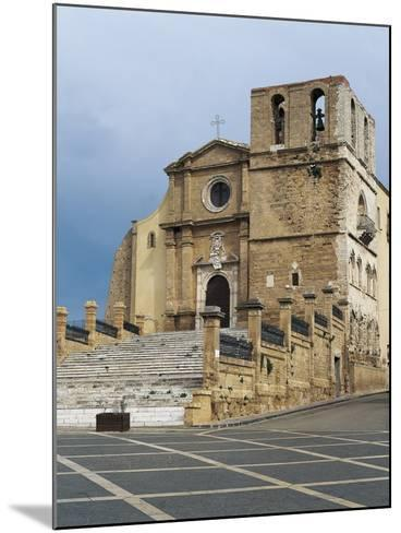 Facade of a Cathedral, Agrigento, Sicily, Italy--Mounted Giclee Print