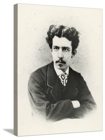 Antonio Fogazzaro (Vicenza 1842 -1911), Italian Writer and Poet--Stretched Canvas Print