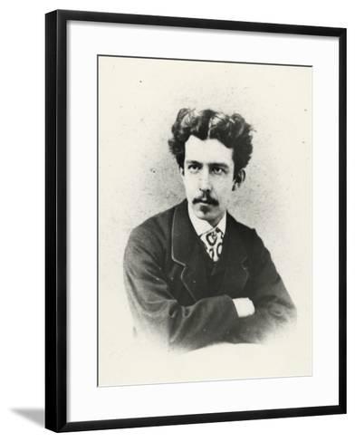 Antonio Fogazzaro (Vicenza 1842 -1911), Italian Writer and Poet--Framed Art Print