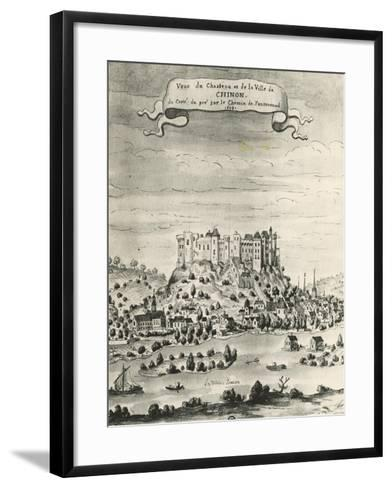Castle and Town of Chinon, 1699, France, 17th Century--Framed Art Print