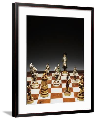 Chessboard with Chess Pieces, Chess, 20th Century--Framed Art Print