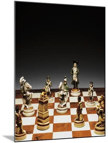 Chessboard with Chess Pieces, Chess, 20th Century--Mounted Giclee Print