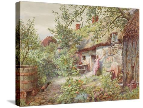 Old Cottage--Stretched Canvas Print