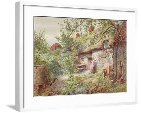 Old Cottage--Framed Art Print