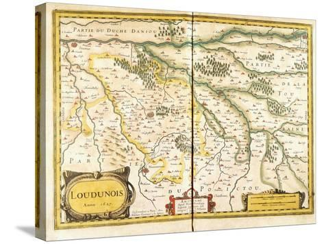 Map of Loudunois in 1627, 1631--Stretched Canvas Print