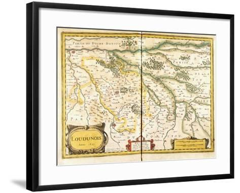 Map of Loudunois in 1627, 1631--Framed Art Print