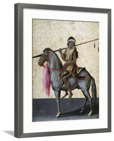 Arabian Horse, Drawing by Jacopo Ligozzi (1547-1627)--Framed Art Print