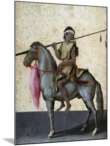 Arabian Horse, Drawing by Jacopo Ligozzi (1547-1627)--Mounted Giclee Print