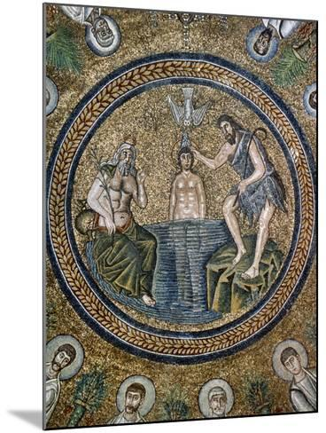 Italy, Ravenna, Arian Baptistry, Mosaic, Baptism of Jesus, 6th Century--Mounted Giclee Print
