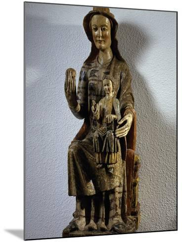 Madonna with Child, Polychrome Wood Statue, Spain, 13th Century--Mounted Giclee Print
