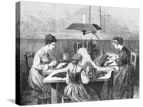 Making Cigars, 1874, Italy, 19th Century--Stretched Canvas Print