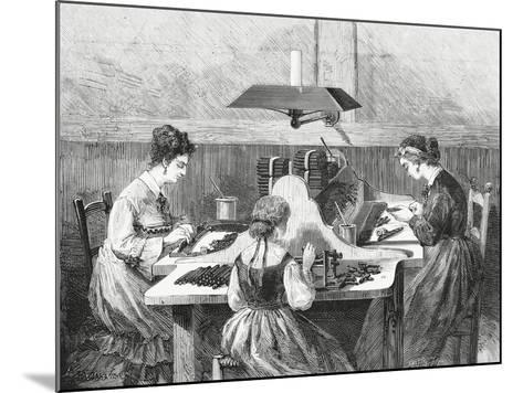 Making Cigars, 1874, Italy, 19th Century--Mounted Giclee Print