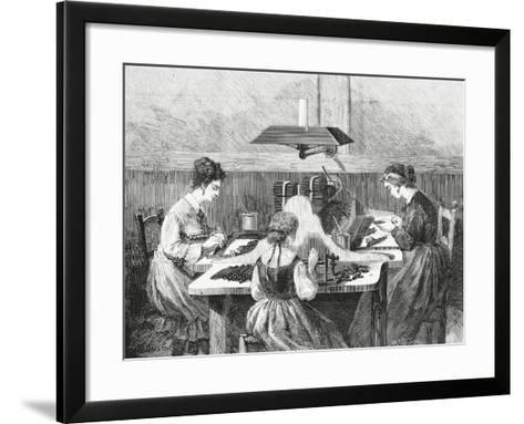 Making Cigars, 1874, Italy, 19th Century--Framed Art Print