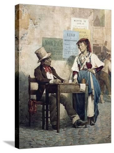 Public Scribe, Italy, 19th Century--Stretched Canvas Print