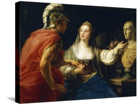 Cleopatra before Augustus or Cleopatra Showing Octavius Bust of Julius Caesar, 1760-1770--Stretched Canvas Print