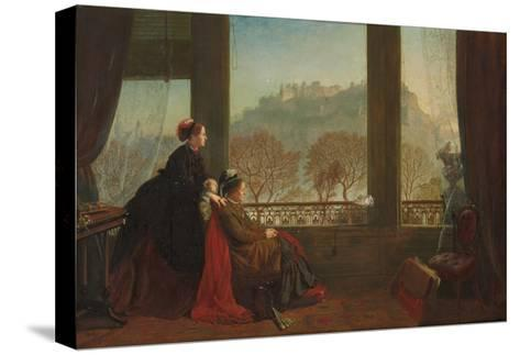 Portrait of the Baroness Burdett Coutts and Her Companion Mrs. Brown, Edinburgh, 1874--Stretched Canvas Print