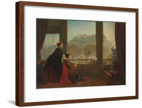 Portrait of the Baroness Burdett Coutts and Her Companion Mrs. Brown, Edinburgh, 1874--Framed Art Print