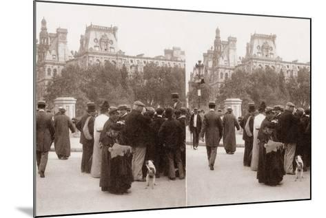Stereoscopic View of the Pont D'Arcole, Paris, 1890--Mounted Photographic Print