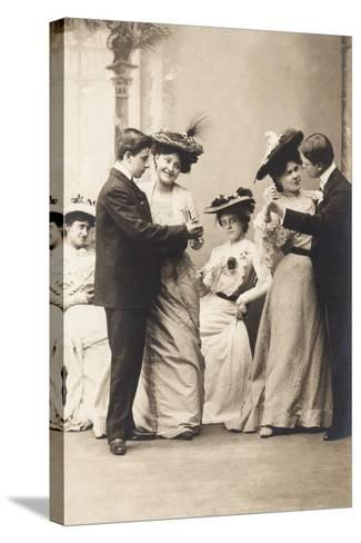 The Casino Ball, from the 'Fantaisies' Series, 1900--Stretched Canvas Print