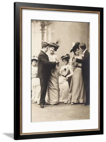 The Casino Ball, from the 'Fantaisies' Series, 1900--Framed Art Print