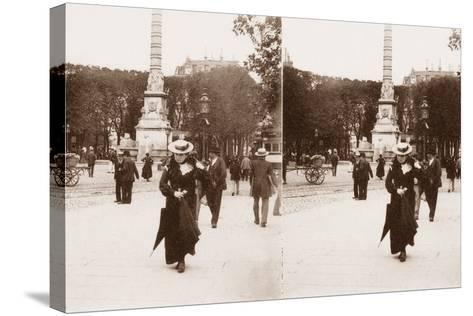 Stereoscopic View of Pont Au Change, Paris, 1890--Stretched Canvas Print
