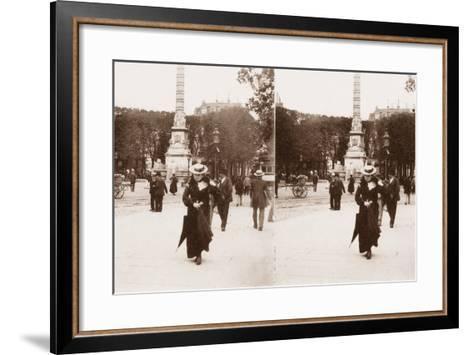 Stereoscopic View of Pont Au Change, Paris, 1890--Framed Art Print