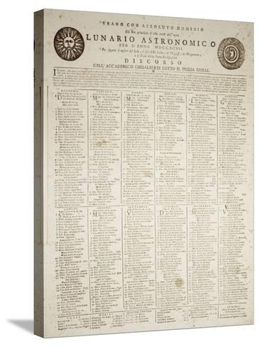 Astronomical Almanac for the Year 1797--Stretched Canvas Print