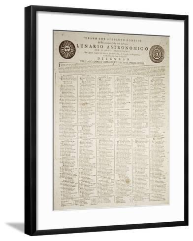 Astronomical Almanac for the Year 1797--Framed Art Print