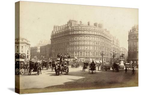 The Grand Hotel, Trafalgar Square, London, C.1885--Stretched Canvas Print