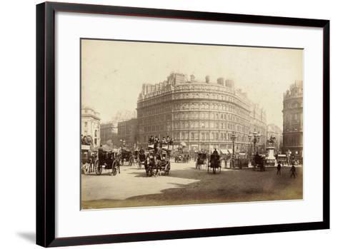 The Grand Hotel, Trafalgar Square, London, C.1885--Framed Art Print
